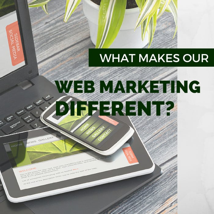 What makes our web marketing different?