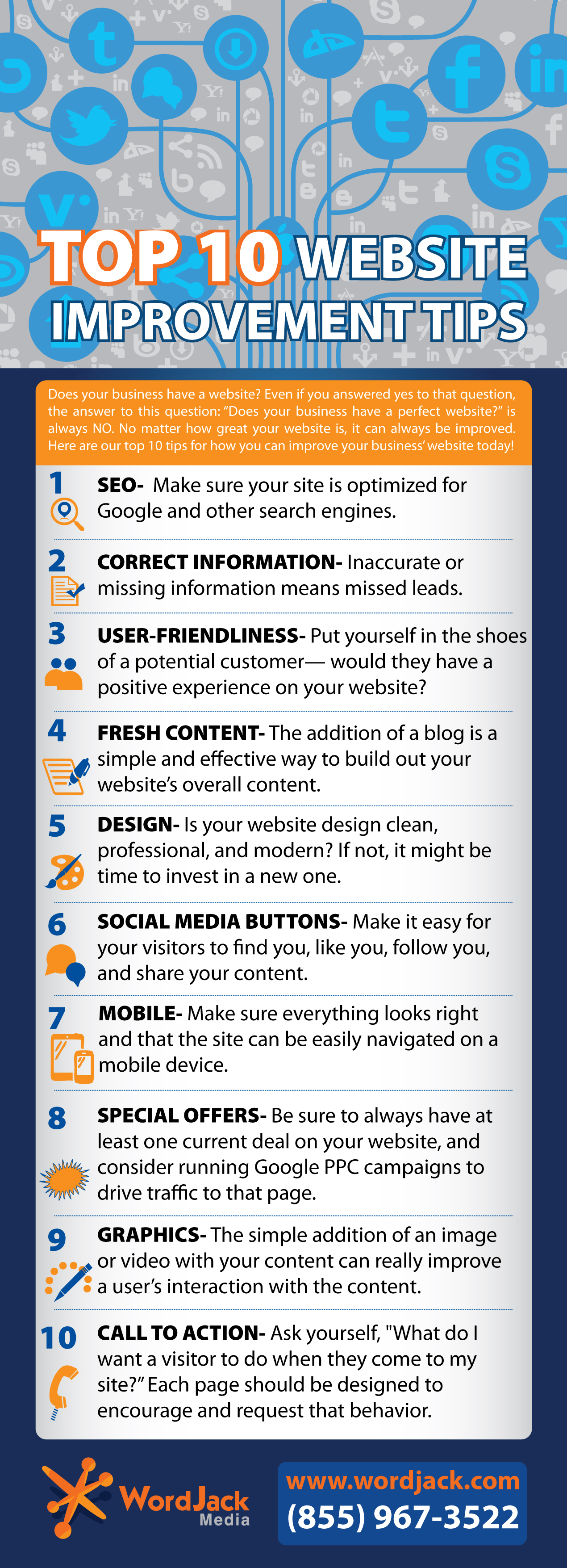 infographic: website improvement