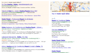 advertising in search results