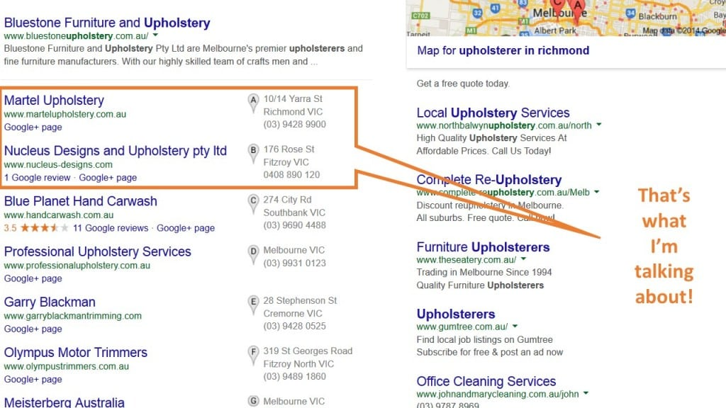 optimizing for google local listings