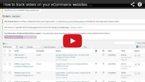 how to track new orders on your e commerce website with woocommerce wordjack media. Black Bedroom Furniture Sets. Home Design Ideas