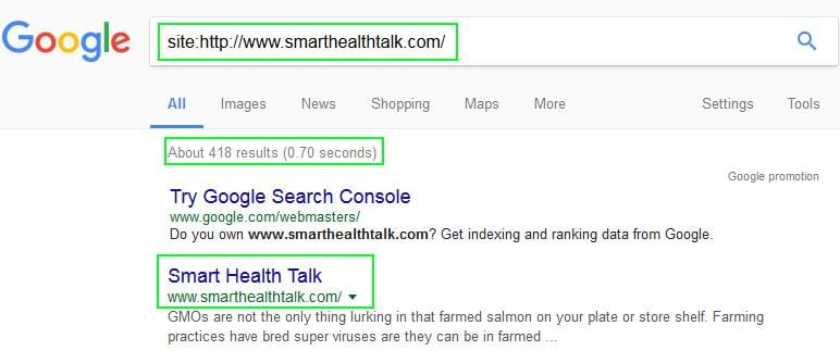 how to find part url in google